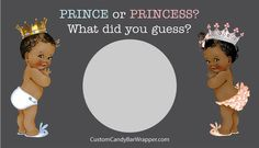 Set of 10 Prince or Princess Gender Reveal by AnnounceItFavors