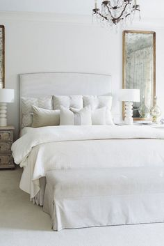 White Bedroom Furniture Videos Ideas - - Working Furniture Plans - - White Furniture Ideas - How To Arrange Living Room Furniture Bay Windows Grey Bedroom Furniture, Gray Bedroom, White Furniture, Trendy Bedroom, Home Decor Bedroom, Bedroom Ideas, Cream And White Bedroom, Cheap Furniture, Furniture Ideas