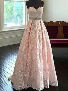 Pretty Sweetheart Neck Lace Light Pink Long Prom Dresses, Evening Dresses,formal dress❤️❤️ Short hairstyles for prom -- prom hairstyles short hair, short curly hairstyles for prom then Click above VISIT link for more info Prom Dresses Long Pink, Princess Prom Dresses, Pretty Dresses, Homecoming Dresses, Beautiful Dresses, Evening Dresses, Formal Dresses, Dress Prom, Lace Dress