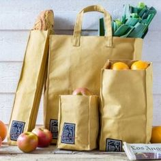 """Sacs coton """"Grocery Store"""" Shopping Bag Design, Paper Shopping Bag, Sac Lunch, Leather Bag Tutorial, Diy Sac, Produce Bags, Creation Couture, Linen Bag, Fabric Bags"""