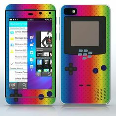 Rainbow Video Game Designer Device Polka dots video game device pattern phone skin sticker for Cell Phones / Blackberry Z10 | $7.95