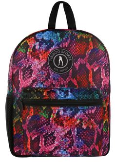 A Dazzling Backpack That Rivals Any Reptile, Tikiboo's Rainboa Rucksack Features A Unique Vibrant Print Featuring Every Colour Of The Spectrum. Shop The Collection Online Today! Large Water Bottle, Reusable Coffee Cup, Gym Bags, Vera Bradley Backpack, Spectrum, Coffee Cups, Fashion Backpack, Vibrant, Towel