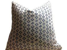 Peter DunhamTextiles  Pillow, Kumbh Pillow, indigo Natural Throw Pillows, Sofa Pillows, Decorative Throw Pillow Cover