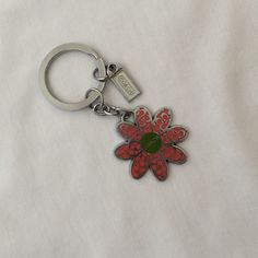 Authentic Coach Keychain Perfect summer accessory to add to your keys. Coach Accessories Key & Card Holders
