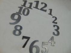 Custom Cut Metal Clock Numbers 1  12 or by HazelnutHillbySherri
