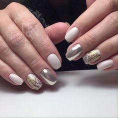 Evening dress nails, Ideas of gentle nails, Insanely beautiful nails, Luxurious nails, Milky nails, Perfect nails, Spectacular nails, Spring summer nails 2017 Beautiful