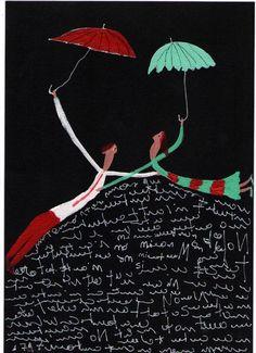 """Escapandole a las incomprensiones"" FELIPE GIMENEZ Umbrellas Parasols, Under My Umbrella, Art And Technology, Bananas, Valencia, Graphic Design, Creative, Quotes, Mural Painting"