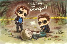 Well, I say Jackpot LOL #Supernatural #fanart