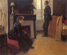 Summer Shower, 1891 - Santiago Rusinol. Impresionismo