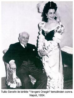 LEYLA GENCER WITH CONDUCTOR TULLIO SERAFIN EARLY IN HER CAREER