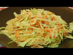 Cómo hacer ensalada agridulce de repollo y zanahoria - YouTube Spanish Food, Omelette, Clean Recipes, Flan, Mexican Food Recipes, Asparagus, Delish, Side Dishes, Cabbage