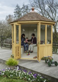 A summerhouse for the next generation, clad in Accoya, to be revealed at the RHS Chelsea Flower Show 2016.