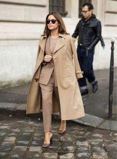 the perfect monochromatic look Street Style Chic, Street Style 2016, Autumn Street Style, Street Style Looks, Fashion Week, Work Fashion, Paris Fashion, Trendy Fashion, Autumn Fashion