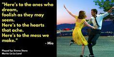 Movie quote by Mia from La La Land