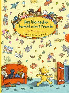 Für Sucher und Finder:  Daniela Kulot: Der kleine Bär besucht seine 7 Freunde. 12,95€, Thienemann, ab 3 Jahren.    Der kleine Bär besucht seine sieben Freunde auf der ganzen Welt. Weil sie den kleinen Bären so sehr mögen, schenken sie ihm alle ihr Herz. Neben den liebevoll gezeichneten Bildern gibt es in diesem wunderschönen Wimmelbuch viele kleine und große Geschichten zu entdecken.