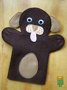 ideku handmade: hand puppets are coming! Glove Puppets, Felt Puppets, Puppets For Kids, Felt Finger Puppets, Felt Diy, Felt Crafts, Animal Hand Puppets, Puppet Patterns, Puppet Making