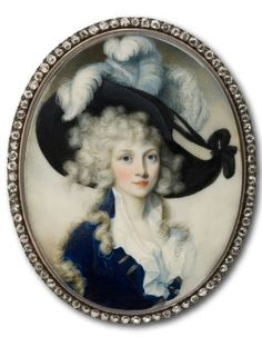 ab. 1790 English - Lady Wearing a Hat Adorned with... | History of fashion in art & photo