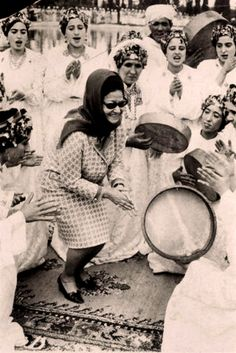 The amazing Oum Kalthoum in Morocco, 1968.