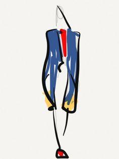 Steven Tai Fall 2013; Illustration by Danielle Meder Croquis Fashion, Fashion Sketches, Toronto Fashion Week, Fashion Art, Fashion Design, Life Drawing, Fashion Illustrations, Digital Illustration, Art Girl