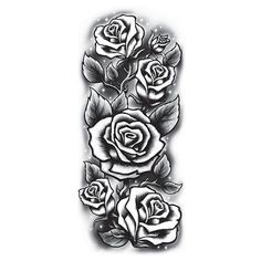 Black and White Roses Sleeve Temporary Tattoo – Pickatat Neck Tattoos, Best Sleeve Tattoos, Sleeve Tattoos For Women, Tattoo Women, Tattoo Sleeve Designs, Body Art Tattoos, Small Tattoos, Roses Half Sleeve Tattoo, Tattoo Sleeves