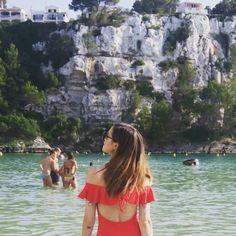 Marzia Bisognin ❤️ | menorca beach | red swimsuit