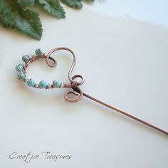 COPPER HEART - Handmade Hair Pin
