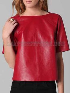 Mesmerizing T style Women Lamb Leather Top-http://www.leatherfitters.com/new-arrivals/detail-mesmerizing-t-style-women-lamb-leather-top-293.aspx
