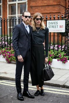 there they go again. looking brilliant. #VeronikaHeilbrunner & #JustinOShea in London.