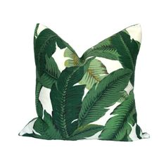 Whether your decor leans more Palm Beach chic, or tropical island casual, this classic, yet modern, banana leaf print will fit right in. The Swaying