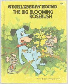 Vintage-Childrens-Wonder-Book-THE-BIG-BLOOMING-ROSEBUSH-Huckleberry-Hound