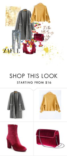 """Yellow is the new black!"" by gocak ❤ liked on Polyvore featuring yellow, red, autumn and fashionset"
