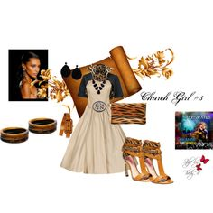 """Church Girl #3"" by thedyb on Polyvore  This is my fourth use of this simple dress to show how women in church ""uniforms"" can be uniform but unique.  #fashion #fashionset #dress #dressy #sleevelessdress #heels #sandals #color #biege #brown #black #earrings #bracelet #watch #wristwatch #jewelry #accessories #bolero #crop #animalprint #leopard #zebra #fierce #belt #buckle #jacket #clutch #purse #hot #haute #xfactor #fabulous #fashionista #girly #personalstyle #style #outfit #outfits"