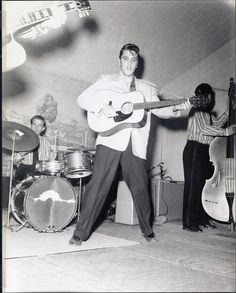 DJ Fontana, Elvis Presley and Bill Black April 20, 1956
