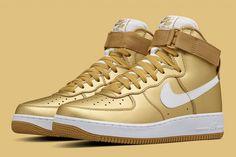 pretty nice 8e7d5 1155a Nike Air Force 1 High (Metallic Gold) - Sneaker Freaker