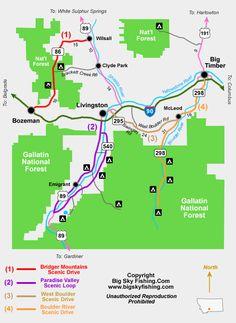 boulder river Montana | Map of the Boulder River Backcountry Drive