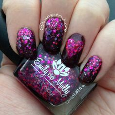 Valentine's day mani using Emily de Molly - Super Vixen (over EP holiday 2013)