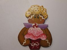 Gingerbread Lady Cupcake Baker Wooden by KatesArtCollectables