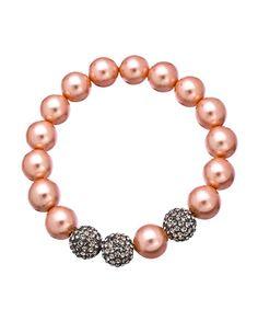 Very Me Black Diamond Rose Pearl Bracelet