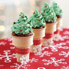 Funfetti® Holiday Brownie Cones