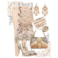 """Peach and Taupe"" by jlg8503 on Polyvore"