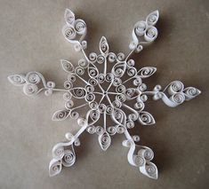 Spent the day making gorgeous quilled paper snowflakes at our Crafternoon Extraveganza. I found this photo on pinterest and made it big...