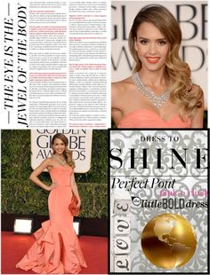 """""""Jessica Alba: the golden globes"""" by luvsfashionchic ❤ liked on Polyvore"""