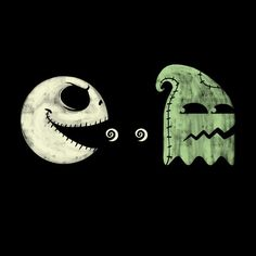 """""""Pac-Jack"""" by spike00 is $10 today at ShirtPunch.com (10/14). #tshirt #Pacman #NightmareBeforeChristmas #VideoGames #Gaming"""