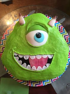 Monsters Inc Mike cupcakes