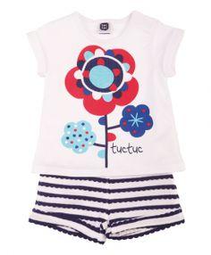 little-unicorn-store-tuc-tuc-primavera-verano-coleccion-infantil-deep-blue-conjunto-punto-camiseta-blanca-flor-pantalon-corto-bermudas-short-rayas