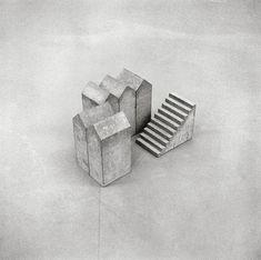 Hubert Kiecol - Fünf Häuser mit Treppe (Five houses with stairs), 1984 Kunstmuseum Bonn