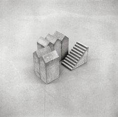 Hubert Kiecol - Fünf Häuser mit Treppe (Five houses with stairs), 1984 Kunstmuseum Bonn