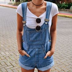 Denim playsuit. Spring/summer fashion ideas 2016.