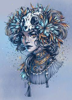 Strahlende Blau und Beige Töne, ein fantastisches Farbenspiel