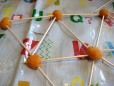 use toothpicks and play dough to build